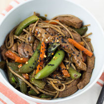 soba noodle beef and veggie stir fry recipe