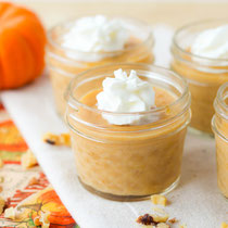 Easy five-ingredient pumpkin pudding recipe