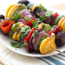 Easy Southwestern grilled vegetable skewers recipe