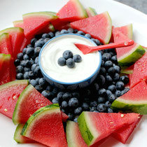 healthy fourth of July fruit platter