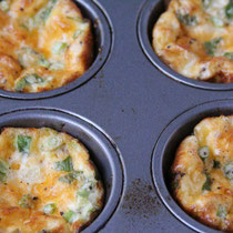 quick vegetarian four ingredient mini frittatas - by homemade nutrition - www.homemadenutrition.com