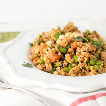 easy whole grain vegetable fried rice recipe