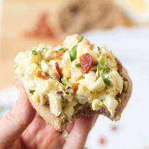 healthy bacon egg salad recip