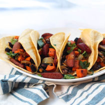 one-pan sausage and sweet potato tacos recipe