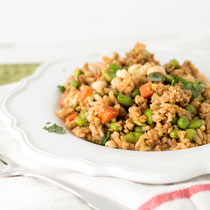 Whole grain veggie fried rice recipe