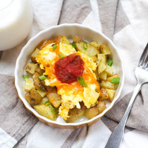 freezer-friendly cheesy potato and egg breakfast bowls recipe