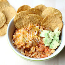 healthy upside down turkey nachos recipe