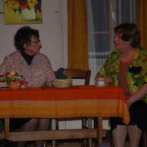 Susi und Rosmarie beim Pläne Schmieden!