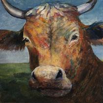 Die bunte Kuh, Mischtechik auf Leinwand, 80x80cm          - Preis auf Anfrage