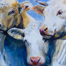 Die Drei, Mischtechnik auf Leinwand, 120 x 150 cm                                         - Preis auf Anfrage