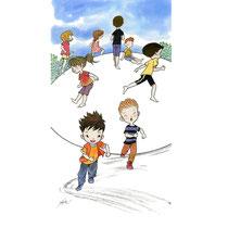 公園の子ども達イラスト