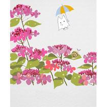 紫陽花とおばけ猫