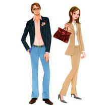 マスコミ男女ファッション
