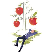 リンゴの木の下