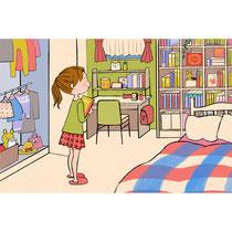 小学女子の子供部屋