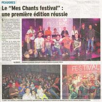 Le Mes Chants Festival : une première édition réussie - Le Dauphiné - 10/11/15