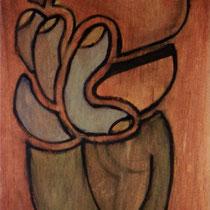 Ohne Titel – 1989 – 165 x 58 cm – Tempera auf Holz