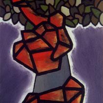 Ohne Titel – 1989 – 87 x 52 cm – Tempera auf Holz