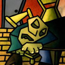 Ohne Titel – 1991 – 50 x 60 cm – Tempera auf Leinwand