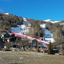 Val d`Isère 3.12.16 Rennstrecke aus der Ferne