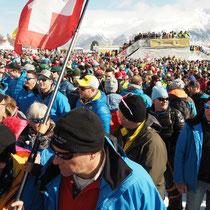 WM St.Moritz, 12.2.2017 , Bernerfans an einem Fleck