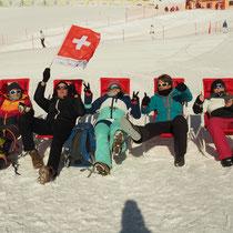 WM St.Moritz, 12.2.2017, die Sonne am Geniessen