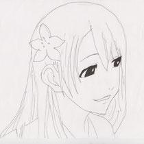 Portrait de fille à la fleur (09/2013)