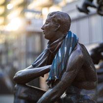 Faunbrunnen (Junger Mann),  Heinrich Apel, Bronze, 1986