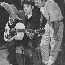 René Nodelijk neemt met Paul Gimbel de song Sugar Bowl Rock door in de studio (eind 1959) met zijn Miller