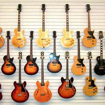 Een deel van de Gibson collectie