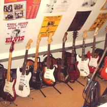 Collectie gitaren met elk hun eigen karakter en klankkleur.