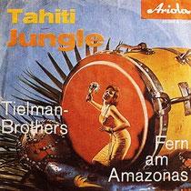 Begin 1962 verscheen de eerste in Duitsland opgenomen singel van The Tielman Brothers op het Ariola label. Het hoesje zag er zeer exotisch uit en de titels Tahiti Jungle en Fern Am Amazonas riepen gevoelens op van een idylisch droomeiland.