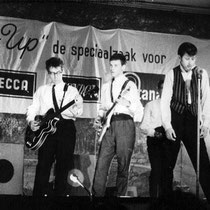 THE JUMPING ROCKERS - Amsterdam  vlnr: Wim Paulus, Kick Otto, Charles Pater, Karel Albrink, Tonnie Rooy, Duco de Rijk