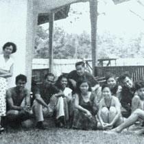De familie Tielman met vrienden