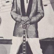 Andy met zijn Gibson Les Paul