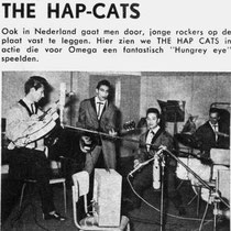 "The Hap-cats tijdens hun opname van "" Hungrye Eye"" in de Philips studio in Brussel"