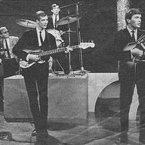 The Explosions tijdens een VARA-TV uitzending in 1965.