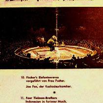 Gedeelte van een flyer van circus Fisher