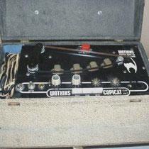Ook onontbeerlijk voor het Shadows geluid, een echomachine, een Watkins Copycat !