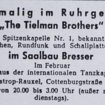 In 1962 kregen ze ook een platencontract in Duitsland voor de firma Ariola. Op de A-kant van hun 1e single kwam Tahiti Jungle (een bewerking van Hawaiian War Chant van The Ventures) en op de B-kant de schlager Fern Am Amazonas