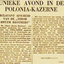 artikel in het Nieuwsblad voor Sumatra 11-3-1950