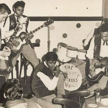 THE CRAZY ROCKERS - Den Haag  Piet Solleveld (gitaar) Eddy Chatelin (gitaar, zang)  Woody Brunings (slaggitaar, zang) Henny Aschman (drums) Sidney Rampersad † (zang, gitaar)