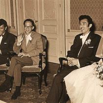Reggy en Ilse zijn drie dagen na het beindigen van de Expo op 22 oktober 1958 getrouwd