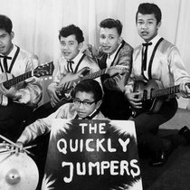 THE QUICKLY JUMPERS - Roosendaal  vlnr: Albert Petitjean - Rob Gillet - Willy Butters - Jozef Kotta // Daan Takarindingan (voorgrond)