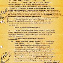 Officieel contract Kom van dat dak af. 1-12-1959