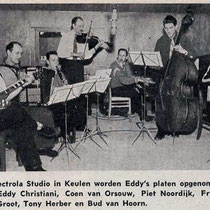 Een van de eerste electrisch versterkte gitaristen van Europa ( zoniet de éérste)was Eddy Christiani, die in 1954 zijn platen opnam in de Electrola studio in Keulen (Duitsland)