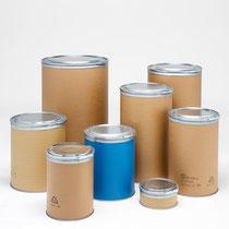 Müller AG Verpackungen:  Fibre Drums, Industrieverpackungen aus Kraftliner von 12 bis 250 Liter Inhalt