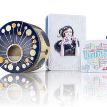 Andreas Kopp AG: Dekordosen aus Weissblech mit schönem Druck, Präg oder Sichtfenster