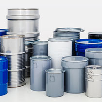 Müller AG Verpackungen: zylindrische und konische Spund- , Deckel und Kombifässer von 1 bis 240 Liter Inhalt