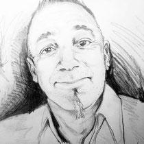 Portrait Emmanuel, crayon graphite, 21x29.7 cm, réalisé par Natpalette